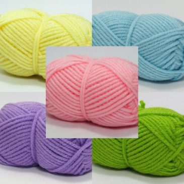 Knitted yarn-Acrylic-Large crafts