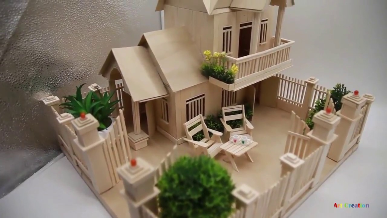 Handicrafts of used goods-miniature from cardboard