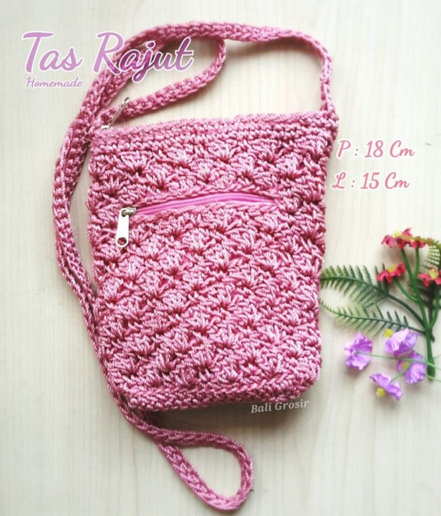 Inspiration Little small Slingbag knitting bags 2