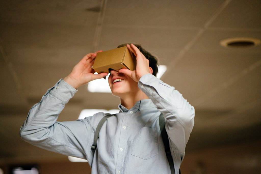 Crafts from cardboard-VR Box cardboard
