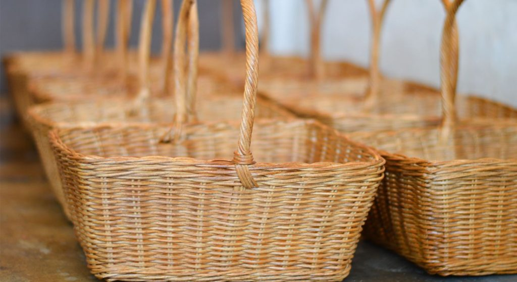 Handicraft from Indonesian original rattan-Basket